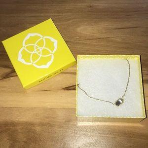 Kendra Scott Elisa Gold Pendant Necklace in Slate